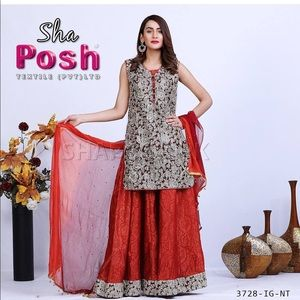 6ccfd619f5 shaposh Other - ❣️Shaposh 3/4 sleeve Pakistani Indian Sharara suit